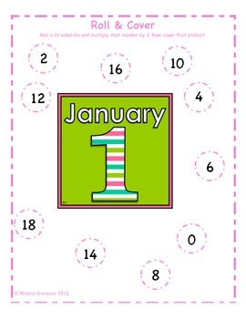 New Year's Multiplication Roll and Cover
