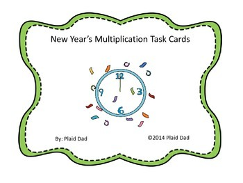New Year's Multiplication Task Cards