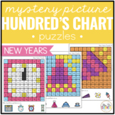 New Years Mystery Picture Hundred's Chart Puzzles