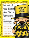 New Years Reading passages NO-PREP Non-Fiction Historical Passages
