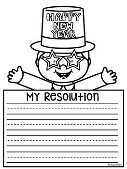 New Years Writing Resolutions NO PREP New Years Resolution 2018 Craft Activities