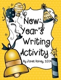 New Year's Writing Activity in Fun Newspaper Format