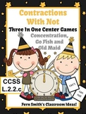 New Year's Themed Three Center Games for Not Contractions Including Printables