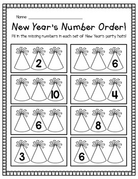 New Years Number Order