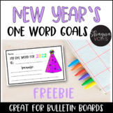 New Years One Word Goal Free