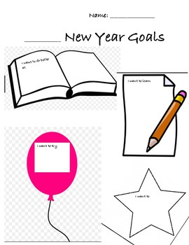 New Years Opinion Writing Graphic Organizer