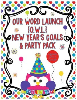 New Years 2018 Owl Themed New Year's Goals and Party Pack