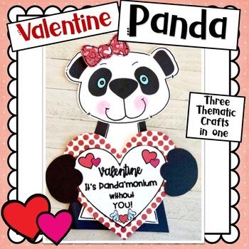 New Years/Valentine Panda Bear Craft: 2 in One Craft