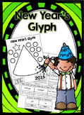 New Year's Party Hat Color, Cut and Paste Glyph