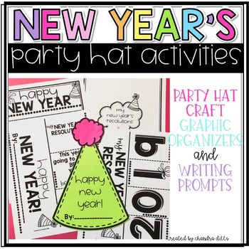 New Year's Party Hat Writing Craftivity