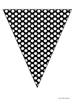New Year's Pennant Banner Classroom Decor Set 1 Gold/ Black
