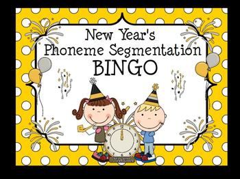 New Year's Phoneme Segmentation Bingo