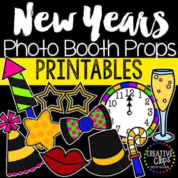 New Years Photo Booth Props Tpt