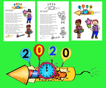 New Year's 2019 Activities: Poems / Songs  - Shared Reading Fluency
