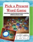 New Years Present Game- Word Fun