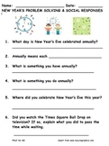 New Year's Questionnaire Freebie