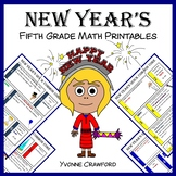 New Year's No Prep Common Core Math (fifth grade)