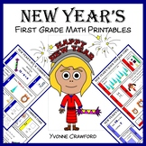 New Year's No Prep Common Core Math (first grade)