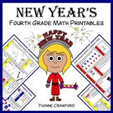 New Year's No Prep Common Core Math (fourth grade)