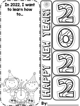 New Year's Reading Goal Bookmark