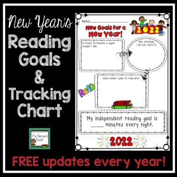 New Year's Activities 2017- Reading Goals Poster and Tracking Chart
