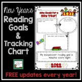 New Year's Activities 2018- Reading Goals Poster and Tracking Chart