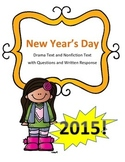 New Year's Reading Paired Passages: Drama Text and Nonfiction Text
