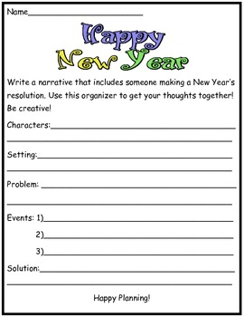 New Year's Reading and Writing Packet