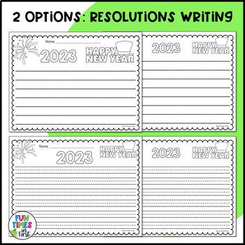 New Year's Resolution Activity FREEBIE