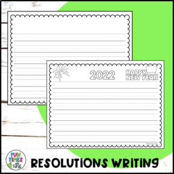 New Year's Resolution Activity FREEBIE