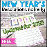 New Year's Resolution Activities 2021 FREEBIE