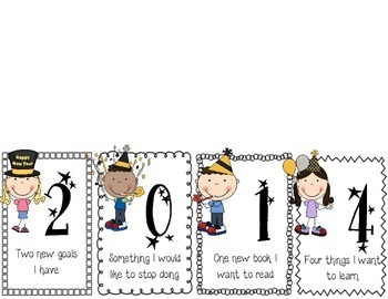 New Years Resolution Activity Foldable