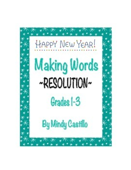 New Year's Activity- Making Words with RESOLUTION
