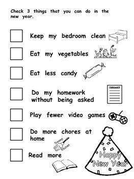New Years Resolution Checklist