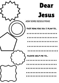 New Years Resolution: Dear Jesus