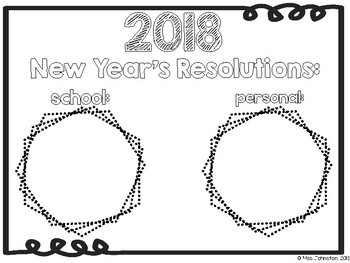 New Year's Resolution FREEBIE