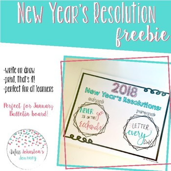 New Year's Resolution FREEBIE
