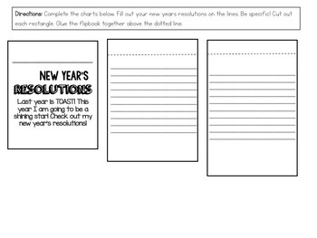 New Years Resolution Flip Chart