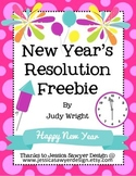 New Year's Resolution Freebie (English and Spanish)
