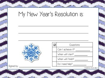 New Year's Resolution {Freebie!}