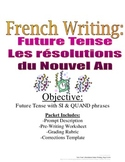 New Year's Resolution: Future Tense Writing for French, Rubric Included