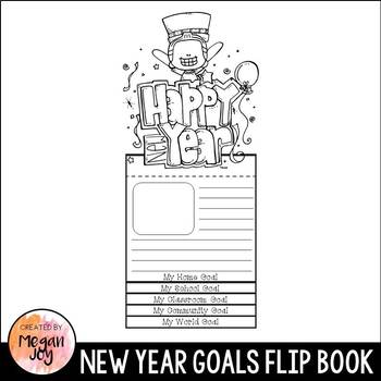 New Years Resolution Goal Setting Flip Book