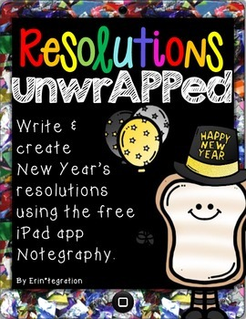 New Year's Resolution & Goals iPad digital image note-maki