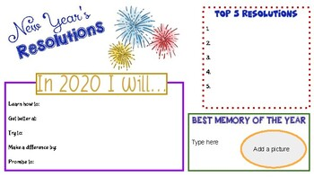 New Years Resolution Google Slide