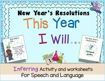 """""""This Year I Will..."""" New Year's Resolution Inference Activity"""
