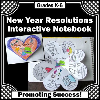 New Year's Resolutions Craft, Foldable New Year's Day Interactive Notebook