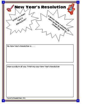 New Year's Resolution--K-5th grade