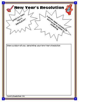 New Year's Resolution-Kindergarten