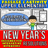 New Year's Resolution: Reading Passage and Questions: Interactive Notebook