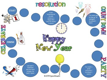 Happy New Year 2018! New Year's Resolution Race {vocabulary for older students}